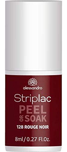 alessandro Striplac Peel or Soak Rouge Noir – LED-Nagellack in dunklem Rot-Schwarz – Für perfekte Nägel in 15 Minuten – 1 x 8ml