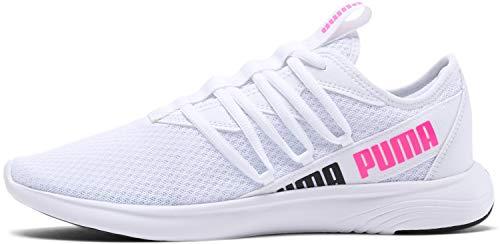 PUMA Star Vital - Zapatillas deportivas para mujer, blanco (Puma Blanco/Puma Negro/Rosa Luminoso), 36.5 EU