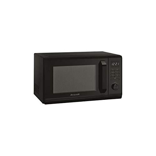 BRANDT – Micro-ondes Gril Electronique 23L – 1000W – 6 Auto programmes – Départ rapide – Sécurité Enfant – Cavité énamelite – Noir