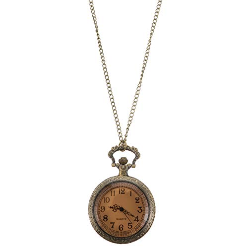 VILLCASE Reloj de Bolsillo con Tapa de Cristal Reloj de Cuarzo con Cadena Reloj Retro de Moda Reloj Mecánico Reloj para Mujer Hombre Regalo