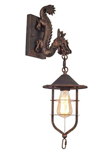 MEIXIAN wandlamp Manini industriële retro wandlamp smeedijzeren zolder persoonheid hotel gassen gang kledingstukken draken muurschildering eenvoudig retro