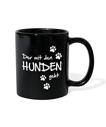 Der mit den Hunden geht. Man muss ja nicht gleich mit dem Wolf tanzen. Witziges Spruch-Design mit Hundepfoten-Abdrücken. Perfekt für alle Rudelführer, die ihre Hunde gern ausführen und mit ihnen Gassi gehen. Frische Farbe für den Frühstückstisch: Die...