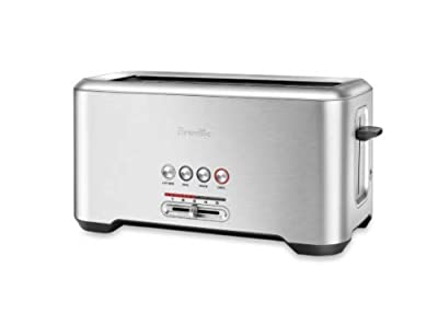 """Breville BTA730XL Stainless Steel Long Slot Toaster""""The Bit More"""" 4-Slice Toast"""