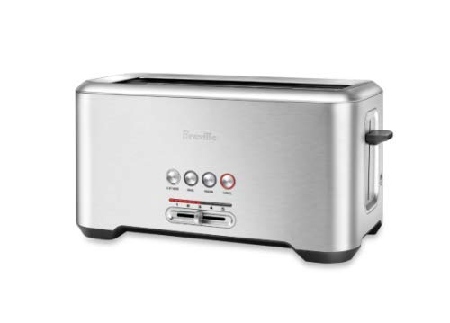 "Breville BTA730XL Stainless Steel Long Slot Toaster""The Bit More"" 4-Slice Toast"