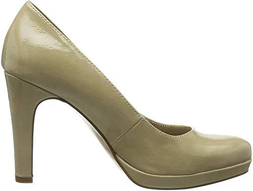 Tamaris 1-1-22426-23, Zapatos con Plataforma para Mujer, Beige (Cream Patent 430), 38 EU