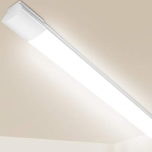 LED Feuchtraumleuchte 120cm, 25W 2800Lm Oeegoo IP65 LED Werkstattleuchte, Lampe röhre 120cm Für Garage Keller Garten Hof Shop Werkstatt, Neutralweiß 4000K
