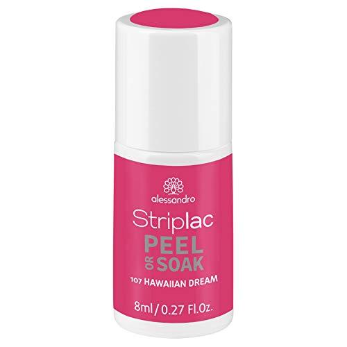 alessandro Striplac Peel or Soak Hawaiian Dream – LED-Nagellack in kräftigem Rosa – Für perfekte Nägel in 15 Minuten – 1 x 8ml