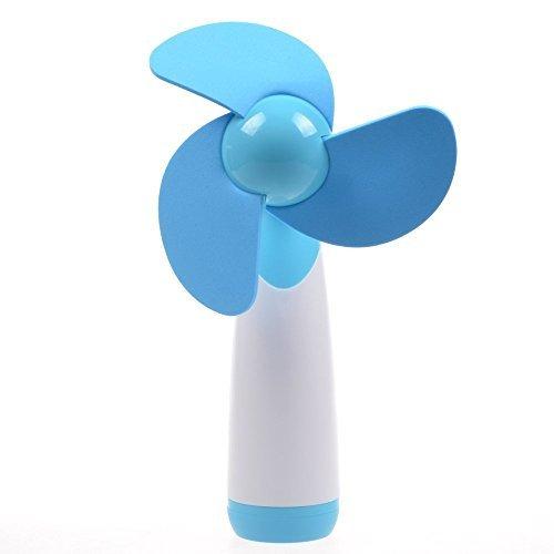 LingsFire®, Mini Ventilatore, Super Silenzioso, Con Batteria AA, Ventilatore Personale Elettrico, Da Usare A Casa O In Viaggio (Blu)