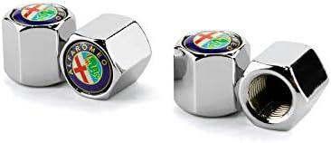 Szswh Zinc Alloy Chrome Silver Valve Cap Tire Stem Valve Caps Apply to Decoration Accessories