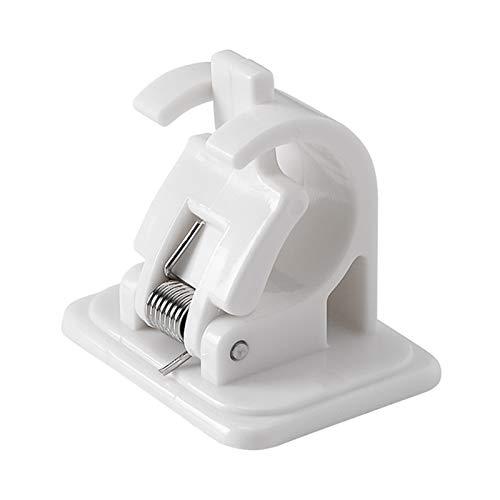Lonsc Gardinenstangenhalter, Nagelfreie Verstellbare Stangenhalterungen Selbstklebende Wandhalterungen für Wandhalterungen für das Badezimmer zu Hause (2/4 / 6 TLG.)