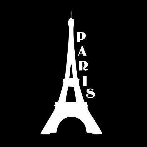 WZHLI Pegatinas Coche Familia Torre Eiffel en París Vinilo Adhesivo 20x10cm / Plata Negro Estilo Coche Etiqueta engomada del Coche Pegatinas de Coche (Color Name : Silver)