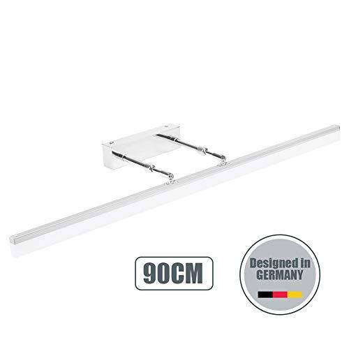 Klighten Spiegelleuchten LED 20W Badleuchte für Wandbeleuchtung und Badezimmer Schminklicht Wandleuchte Badlampe 5500K Weißlicht 90CM