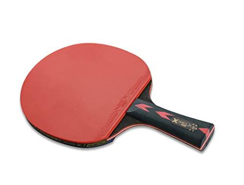 LANFIRE(Huieson) 5 Star Raqueta de tenis de mesa de goma para ping-pong con bolsa para niños, Corto., corto