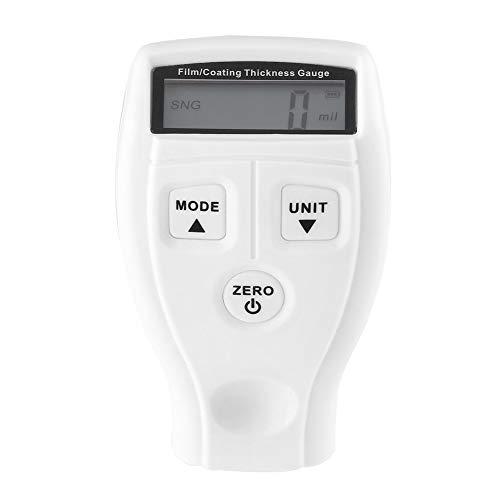 NanXi Beschichtung Meter Gauge/Lackdickenmessgerät Auto, Schichtdickenmessgerät LCD Digital Lackdickenmessgerät Tester Tester Meter LCD-Display Lackmessung Tester Tool Instrumente,Weiß