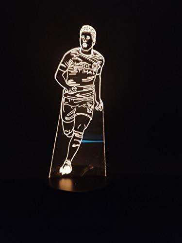 Voetbalstar Kevin Bruin heldere basis voor kinderen cadeau 3AA batterij 3D lichtaangedreven nachtlampje LED nachtlampje