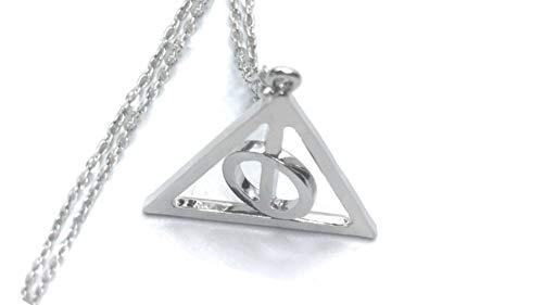 Katessen Reloj Colgante de Metal Collar Reloj de la Muerte Hermione Granger Harry Potter (Reliquias de la Muerte de Oro)