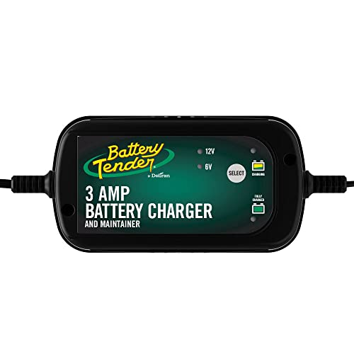 Battery Tender 3 Amp Car Battery Charger Automotive and Maintainer: Switchable 6/12 V, Fully Automotive Battery Charger and Maintainer for Cars, SUVs,...