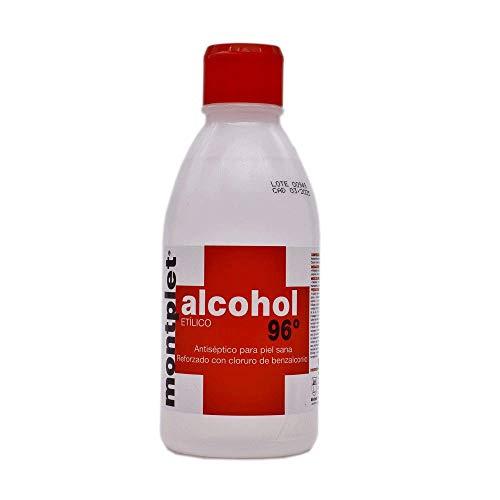 ALCOHOL 96º MONTPLET 250ML. Pack de 16 unidades.