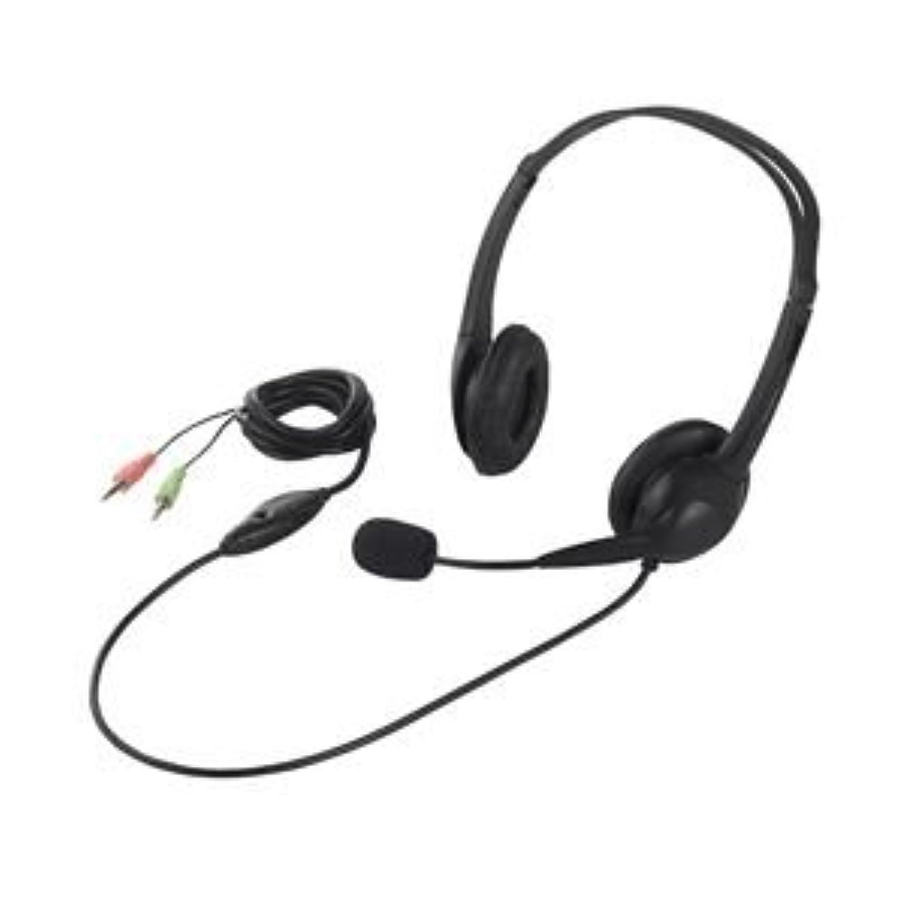 制限する違う印象的な日用品 ヘッドホン 関連商品 ヘッドセット 両耳ヘッドバンド式 半密閉タイプ ノイズ低減 ブラック