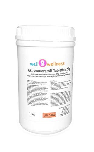 well2wellness Aktivsauerstoff Tabletten 20g / Sauerstofftabs/O²-Tabs 20g chlorfrei - 1,0 kg