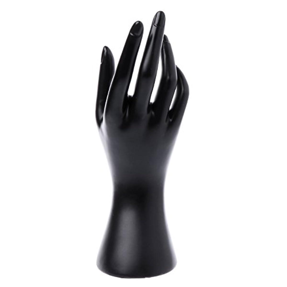 Maskdoo Mannequin Hand Finger Glove,Ring, Bracelet, Bangle, Jewelry Display Stand Organizer Holder (Black)