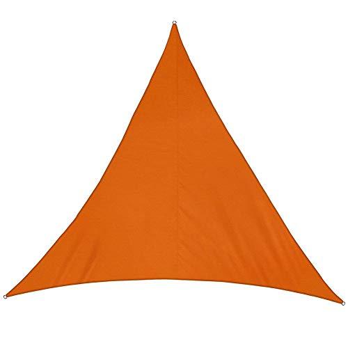 GZHENH-Sichtschutznetz Sonnensegel Dreieck 3D Ziehring Sonnencreme Antioxidationsmittel Verschleißfest Faltenprävention Draussen Polyethylen, 10 Größen, 7 Farben (Color : Orange, Size : 3x4x5m)