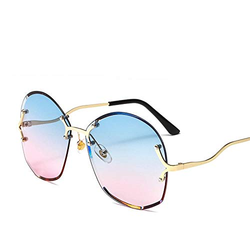 Sonnenbrille Sunglasses Trendy Randlose Sonnenbrille Runde Okulos Retro Vintage Designer Sonnenbrille Damen Mode Sonnenbrille Uv400 6