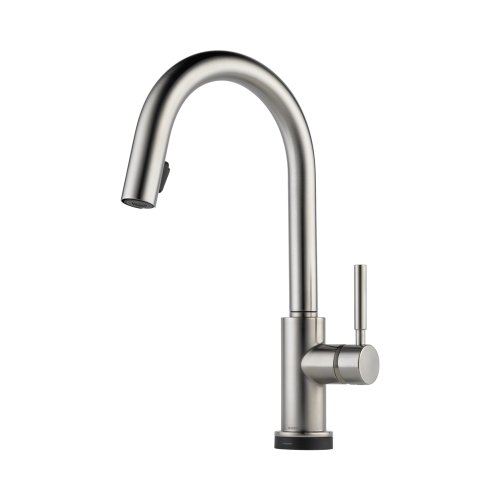 Brizo 64020LF-SS Solna Kitchen Faucet Single Handle with Multi-Functional Pull-Down Sprayer and Smart Touch, Stainless Steel