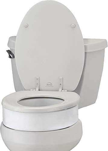Product Image of the NOVA Medical Products Toilet Seat Riser, Raised Toilet Seat (For Under Seat), White