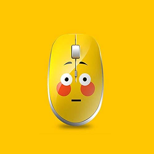 jackchen draadloze muis, super schattig stil creatief emoticon-pakket draadloze muis 2,4 g draadloze verbinding emoji Silent Mouse E.