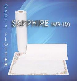 Carta plotter SAPPHIRE iWR100 f.to 61 cm. x 50 mt. gr.100 (Conf. da 4 rotolo) - art.2556
