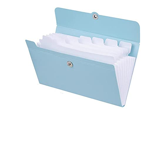 brrCVE Caja de Carpeta de Archivos Bolsa Organizador multifunción Soporte de Almacenamiento Documento de Oficina Suministros A5 Acabado de Carpeta de Papel