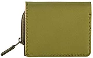 mywalit Women's Flap Coin Purse With Note Section Green