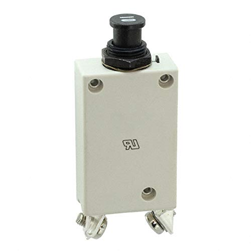 E-T-A Circuit Protection and Control 412-K14-LN2-10A, Circuit Breaker; Therm; Push/Pull; Cur-Rtg10A; Panel; 1 Pole; Vol-Rtg 28VDC