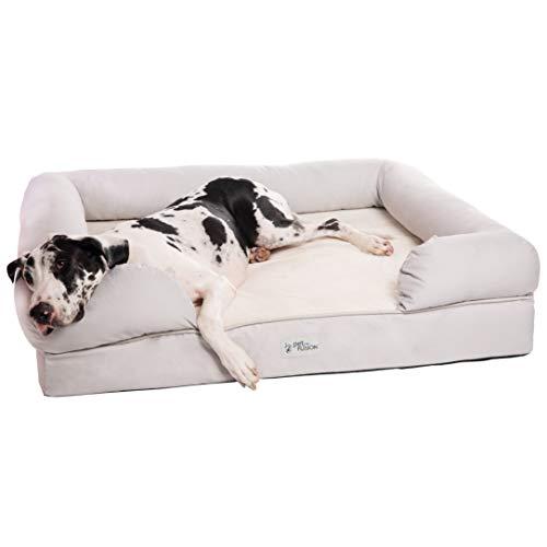 PetFusion Hundebett mit Memory-Schaum, wasserdicht, 9,07 kg
