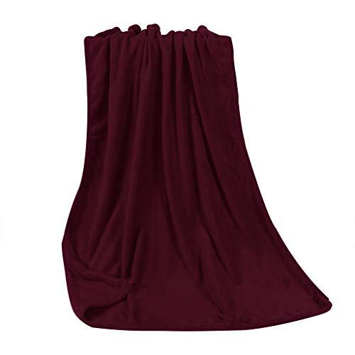 FNKDOR Weich und Bequem Flanell Korallenvlies Decke Blanket Klimadecke Wolldecke 70 x 100 cm M Fit Klimatisiertes Zimmer Indoor Sofa Schlafzimmer Wohnzimmer Textilien Geschenk
