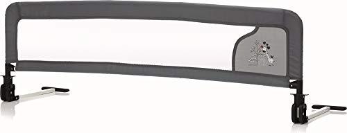 Fillikid Bettschutzgitter | Rausfallschutz für Baby & Kinder 135 cmx42 cm | Kinder-Bettgitter mit rutschsicherer Halterung | klappbares Bettgitter für Betten, Design:Lama mint