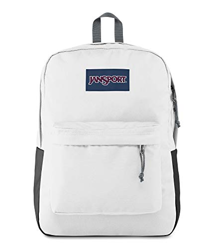 JanSport SuperBreak Backpack - Lightweight School Pack, White