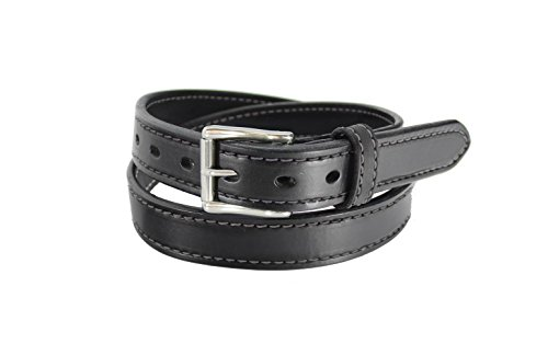 Daltech Force Women's Leather Gun Belt Leather Belt - Stitched 1.25' Wide CCW Concealed Carry Gun Belt 13-14 oz Thickness - Made in USA (Black, Medium (36' - Pant Size 4-6) 1042DW-18