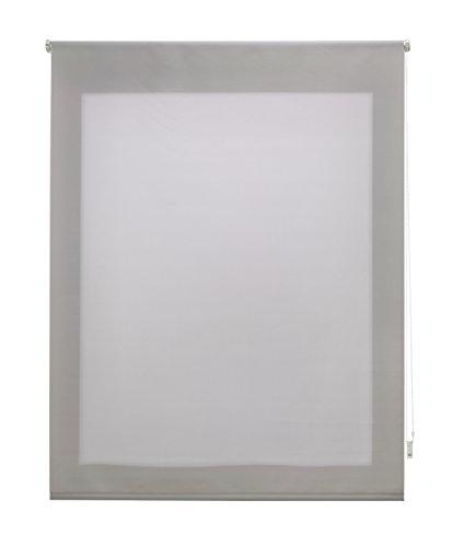 Uniestor Estor Enrollable Liso Traslúcido Tela Plata 140x250 cm