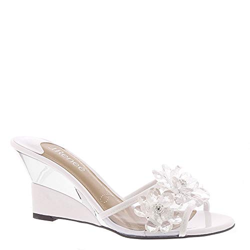 J. Renee Davan Women's Sandal 10.5 C/D US White-Clear
