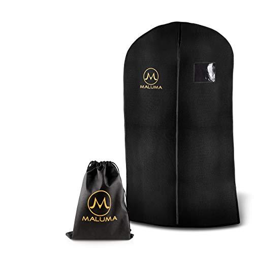 Maluma ® 3 x Kleidersack mit Reißverschluss +1x Gratis Schuhsack - Business hochwertige Kleiderhülle aus wasserabweisendem Vlies - Damen & Herren Kleidersäcke Set für Anzug, Hemden und Abendkleid