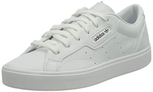 adidas Damen Sleek Vegan Sneaker, Cloud White/Green/Core Black, 40 EU