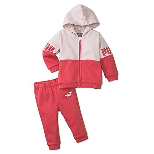 PUMA 4063699335613 Minicats Power Jogger FL Tuta Sportiva, Paradise Pink, 98