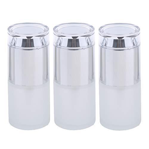 Baoblaze 3pcs Flacons Parfum Vaporisateur Vide Etuis Bouteilles à pompe pour lotion - 02 Argenté