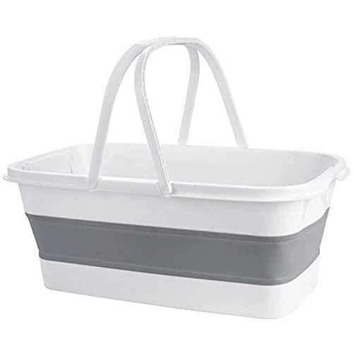 KAIFENGJUBIAN Portable Foldable Bucket Silicone Home Bathroom Mop Wash Bucket Multifunction Fishing Basin Car Outdoor Camping Water Buckets