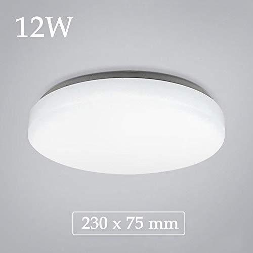 Natsen 12W Deckenlampe LED Deckenleuchte Warmweiß 3000K Küchenlampe Flurlampe mondern Lampe für Wohnzimmer Schlafzimmer Büro Diele Weiß (23 x 23 x 7,5 cm)