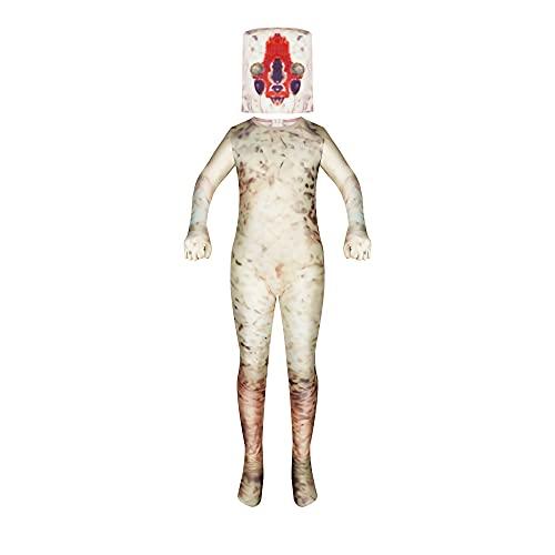 Aepotumn SCP 173 Costume Kids Scary Halloween Peanut Cosplay Creepy Sculpture Horror Monster Bodysuit Jumpsuit 5-12…