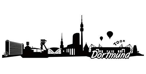 Samunshi® Dortmund Skyline Aufkleber Sticker Autoaufkleber City Gedruckt in 9 Größen (15x4,7cm schwarz)
