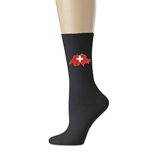 Suiza mapa suizo bandera casual calcetines para mujeres y hombres adultos calcetines cortos calcetines de algodn fresco calcetines yoga senderismo ciclismo correr ftbol deportes